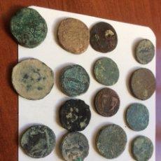 Monedas Imperio Romano: LOTE DE 19 ASES Y SESTERCIOS ROMANOS. Lote 105974987