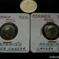 Monedas Imperio Romano: LOTE 2 MONEDAS ROMANAS ANTONINO PIUS.. Lote 106157711