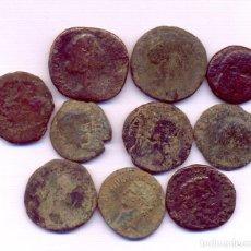 Monedas Imperio Romano: INTERESANTE LOTE DE 10 MONEDA SESTERCIOS ASES Y UN PAR DE IBERICAS. Lote 109199847