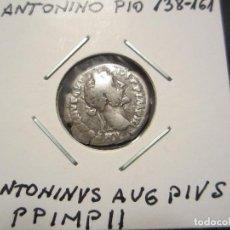 Monedas Imperio Romano: DENARIO DE PLATA DE ANTONINO PIO (138 AL 161). Lote 110260119