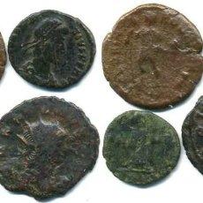 Monedas Imperio Romano: 4 MOMEDAS ROMANAS. HONORIO - GALIENO - CONSTANCIO II Y CONSTANTINO I. Lote 112924071