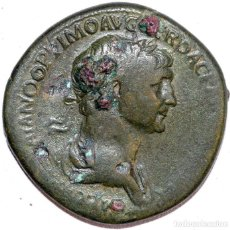 Monedas Imperio Romano: 320--INTERESANTE Y BONITO SESTERCIO DE TRAJANO-114-117 D C.-MBC. Lote 114627435
