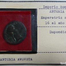 Monedas Imperio Romano: DUPONDIO 16 AL 37 D.C. ANTONIA AUGUSTA. CLAUDIO DE PIE CON UN SIMPULUM. IMPERIO ROMANO. . Lote 115449123