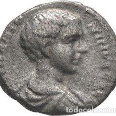 Monedas Imperio Romano: IMPERIO ROMANO! CARACALLA COMO CESAR (196-198)! DENARIO! PLATA! MBC. Lote 115531155