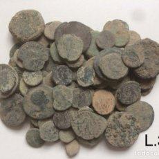 Monedas Imperio Romano: * NUMISALVARO * LOTE ( 31 ) 100 MONEDAS ROMANAS SIN LIMPIAR. Lote 118651086