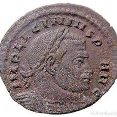 Monedas Imperio Romano: LICINIO I Æ FOLLIS. ROMA R*Q // R-F. SOLI INV-I-CTO COMITI. RIC VII 23 C3. Lote 121751379