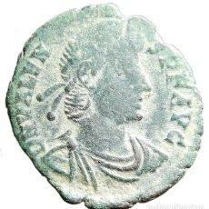 Monedas Imperio Romano: IMPERIO ROMANO. 1/2 CENTENIONAL. A-3 DEL EMPERADOR VALENTE, ROMA SM HOJA RT. RIC IX ROMA 24. Lote 122279783