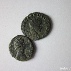 Monedas Imperio Romano: 2 ANTONIANOS: GALLIENO Y CLAUDIO II. SEGURIDAD Y JÚPITER. Lote 124005747