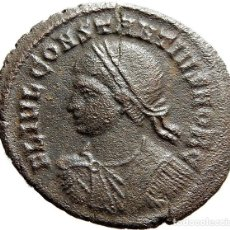 Monedas Imperio Romano: RARO Æ DE CONSTANCIO II, FOLLIS, TICINUM S CRECIENTE T. RIC VII 201 R3. Lote 125231803