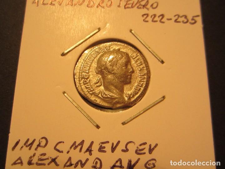 DENARIO DE ALEJANDRO SEVERO (222 - 235) RARA ASI (Numismática - Periodo Antiguo - Roma Imperio)