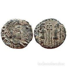Monedas Imperio Romano: CONSTANTE, MEDIO FOLLIS. GLORIA EXERCITVS. TOP BARBARO!!. Lote 131004471
