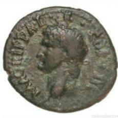 Monedas Imperio Romano: EXCELENTE DUPONDIO AGRIPA 27-12 AC AGRIPPA NEPTUNO CERTIFICADO AUTENTICIDAD. Lote 133679093