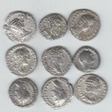 Monedas Imperio Romano: DENARIOS ROMANOS AUTENTICOS LOTE VARIADO DE 9. Lote 140141314