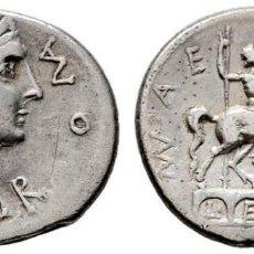 Monedas Imperio Romano: AEMILIA. DENARIO. H.113 A.C. ESTATUA ECUESTRE SOBRE PUENTE. MBC+. SUAVE TONO. Lote 141549658