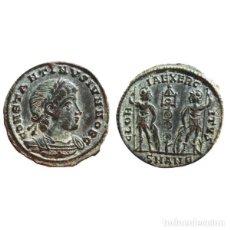 Monedas Imperio Romano: CONSTANTINO II COMO CÉSAR FOLLIS. ANTIOQUÍA. SMAN€.GLORIA EXERCITVS.. Lote 142672978