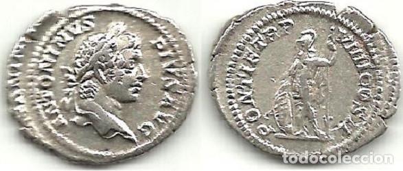 CARACALLA - DENARIO - ROMA 206 D C. - MBC. (Numismática - Periodo Antiguo - Roma Imperio)