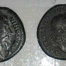 Monedas Imperio Romano: DOS DENARIOS DE LIMES,TRAJANO Y ANTONINO PIO.GRAN PATINA.GRANDES RETRATOS.MEJOR EN MANO.MIRAD Y LEED. Lote 143052306