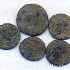 Monedas Imperio Romano: BUEN LOTE DE 5 MONEDAS ROMANAS. Lote 143142762
