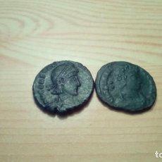 Monedas Imperio Romano: 2 MONEDAS ROMANAS DE CONSTANCIO II. Lote 143144178