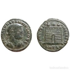 Monedas Imperio Romano: CONSTANTIUS II COMO CÉSAR FOLLIS DE BRONCE. TESALÓNICA. SMTSB.. Lote 143815912