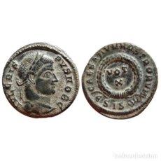 Monedas Imperio Romano: CRISPO COMO CÉSAR FOLLIS DE BRONCE. SISCIA €SIS. VOT X.. Lote 143815944