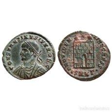 Monedas Imperio Romano: CONSTANTINO II COMO CESAR FOLLIS. CYZICO ·SMK?·. PUERTA CAMPAMENTO.. Lote 143816062