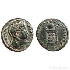 Monedas Imperio Romano: CONTANTINO I CON CASCO FOLLIS DE BRONCE. TRIER. PTR·. VOT/IS/XX.. Lote 143816466