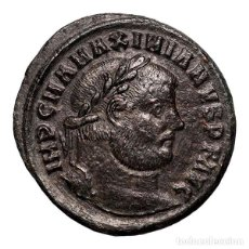 Monedas Imperio Romano: MAXIMINIANO HERCULEO (286-310) FOLLIS, TESALÓNICA, GENIO POPVLI ROM. Lote 143819344