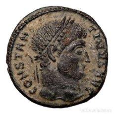 Monedas Imperio Romano: CONSTANTINO I. FOLLIS DE BRONCE, TESALONICA. 320 D.C. VOT XX. TSEVI. Lote 143820944