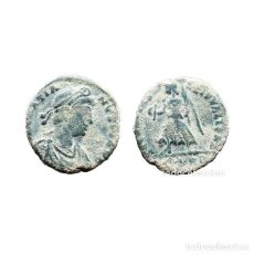 Monedas Imperio Romano: GRACIANO, Æ17, ROMA, SM HOJA RP. (499-L). Lote 143903470