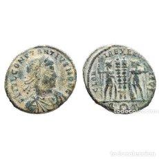 Monedas Imperio Romano: CONSTANCIO II, AE FOLLIS, GLORIA EXERCITUS, ROMA, R T. (507-L). Lote 143904394