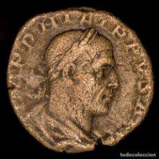 Monedas Imperio Romano: FILIPO I EL ÁRABE (244–249), SESTERCIO. ROMA. ANNONA AVG / S C. Lote 143909472