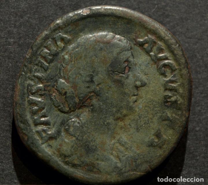 SESTERCIO FAUSTINA LA MENOR (AUGUSTA, 147-175) (Numismática - Periodo Antiguo - Roma Imperio)