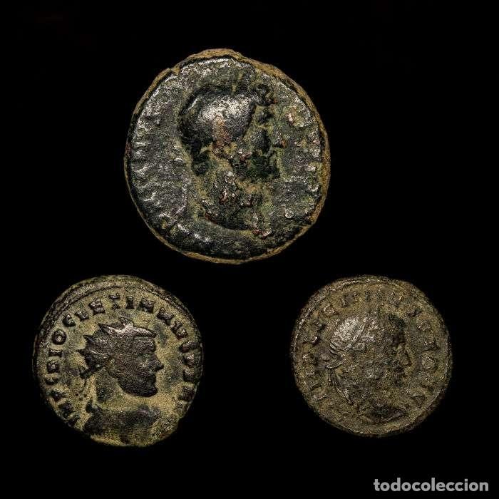 IMPERIO ROMANO. CONJUNTO DE 3 MONEDAS DE BRONCE. SIGLOS I-IV D.C. (Numismática - Periodo Antiguo - Roma Imperio)
