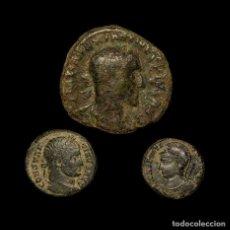 Monedas Imperio Romano: IMPERIO ROMANO, CONJUNTO DE 3 MONEDAS DE BRONCE. SIGLOS I-IV D.C.. Lote 147313360