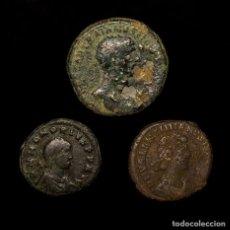 Monedas Imperio Romano: IMPERIO ROMANO - CONJUNTO DE 3 MONEDAS DE BRONCE. SIGLOS I-IV D.C.. Lote 147314398