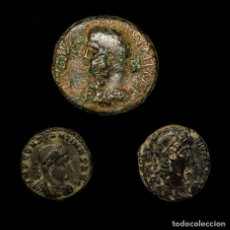 Monedas Imperio Romano: IMPERIO ROMANO. CONJUNTO DE 3 MONEDAS DE BRONCE. SIGLOS I/IV D.C.. Lote 147315600