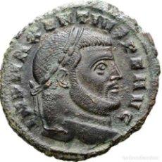 Monedas Imperio Romano: MAXENTIUS (307-312 D.C.) FOLLIS. CARTAGO. CONSERVATOR AFRICAE SVAE. Lote 152753280