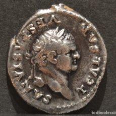 Monedas Imperio Romano: DENARIO TITO ROMA 78-79 D.C TITUS FLAVIUS VESPASIANUS. Lote 118507967