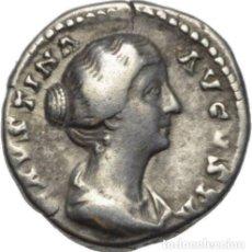 Monedas Imperio Romano: IMPERIO ROMANO - AR DENARIUS FAUSTINA JUNIOR - VENUS - RIC 495 FF - (147-176 D.C.) - ¡MUY ESCASA!. Lote 155042202