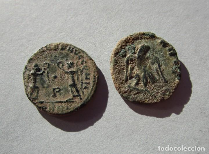 Monedas Imperio Romano: LOTE DE 2 MONEDAS BAJOIMPERIALES - Foto 2 - 155238462
