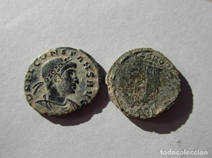 LOTE DE 2 MONEDAS BAJOIMPERIALES (Numismática - Periodo Antiguo - Roma Imperio)