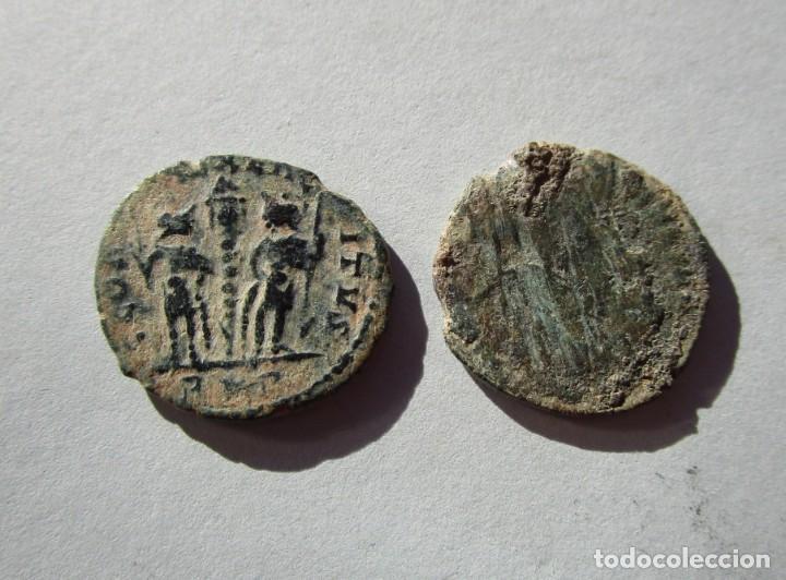 Monedas Imperio Romano: LOTE DE 2 MONEDAS BAJOIMPERIALES - Foto 2 - 155240206