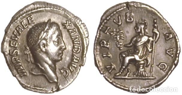 Monedas Imperio Romano: IMPERIO ROMANO. ALEJANDRO SEVERO. DENARIO. VIRTUS - Foto 3 - 160027718