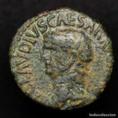 Monedas Imperio Romano: CLAUDIO I (41-54 D. C.). AS DE BRONCE. CECA DE ROMA. S-C MINERVA. Lote 143963064