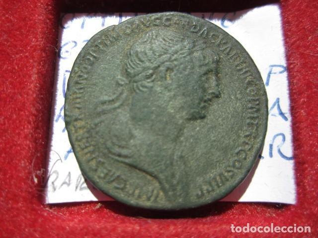 MONEDA DE 1 SEXTERCIO DE TRAJANO (98-117 D.C) PATINA MARRON ACUÑADA EN LOS 114-117 MUY BONITO (Numismática - Periodo Antiguo - Roma Imperio)