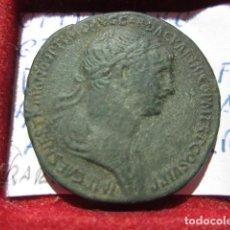 Monedas Imperio Romano: MONEDA DE 1 SEXTERCIO DE TRAJANO (98-117 D.C) PATINA MARRON ACUÑADA EN LOS 114-117 MUY BONITO. Lote 165473206