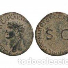 Monedas Imperio Romano: BELLO AS DE GERMÁNICO 37.28 DC PÁTINA VERDOSA 10,25 GR Y CON SU CERTIFICADO AUTENTICIDAD. Lote 167786208