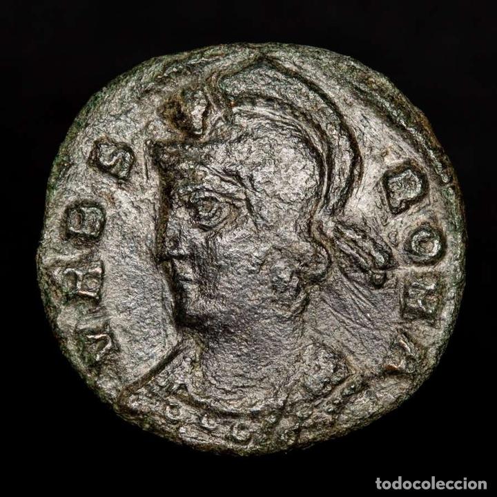 Monedas Imperio Romano: URBS ROMA, Follis acuñado en Tesalonica SMTS? Loba, Romulo y Remo - Foto 2 - 172395833
