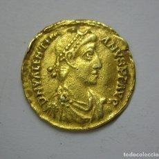 Monedas Imperio Romano: VALENTINIANO I (364-375 D.C.) - SOLIDO DE ORO - RARO. Lote 172636282